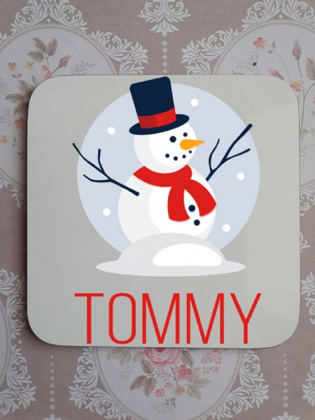 Snowman Personalised Coaster